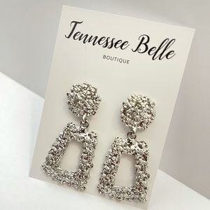 Silver Small Door Knockers Boutique Earring Studs